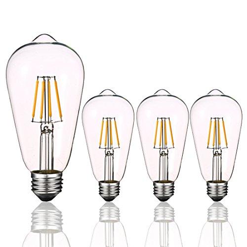 Luxrite Lr21250 2 Pack 4w Led Filament Candelabra Bulb: LED Globe Light Bulbs 40 Watts, Aooshine 4 Watt Daylight