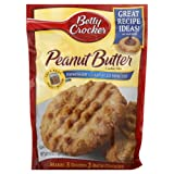 Betty Crocker, Peanut Butter Cookie Mix, 17.5oz Pouch (Pack of 6)