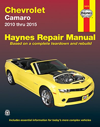 amazon com chevy camaro haynes repair manual 2010 2015 automotive rh amazon com 2010 chevy camaro 2ss owners manual 2010 Camaro Service Schedule
