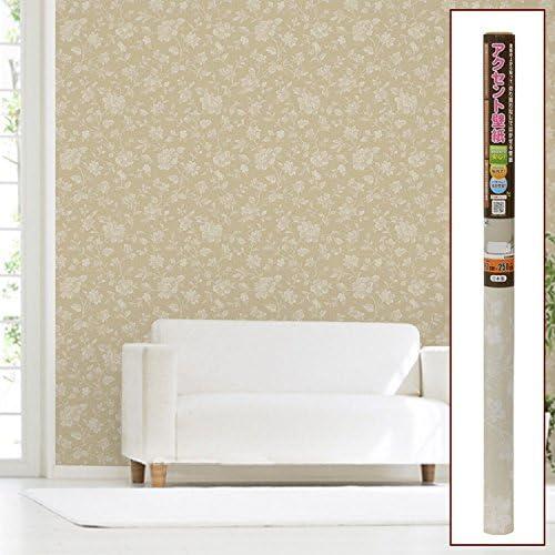 【壁 壁紙 はがせる 防水 のり不要 DIY ウォールシート 貼る オシャレ】アクセント壁紙 92cmx2.5m 9:花柄(B915-S9)