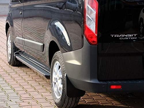 Trittbretter passend f/ür Ford Custom Transit und Tourneo L2 ab Baujahr 2012 Model Truva in Schwarz mit T/ÜV und ABE