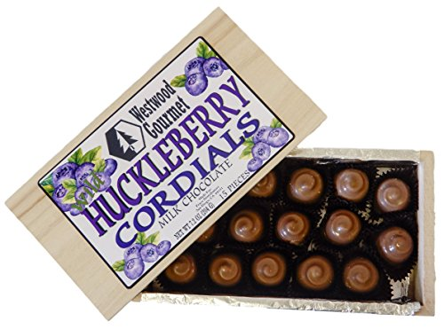 Westwood Gourmet Chocolate Cordials Gift Box (Wild Huckleberry Milk Chocolate) (Chocolate Covered Donuts)
