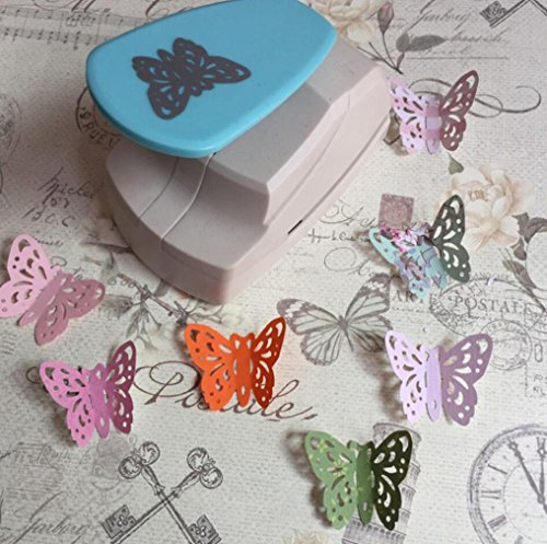 Embossing Machine, Iusun Hollow Butterfly Heart Shape Punch Paper Cutter Tool For DIY Card Making Scrapbooking Craft Tags Gift - A Shape Of Butterfly