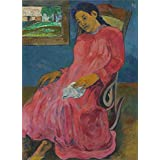 Canvas Prints Of Oil Painting ' Paul Gauguin-Melancholic,1891 ' , 30 x 42 inch / 76 x 105 cm , High Quality Polyster Canvas Is For Gifts And Home Theater, Living Room And Powder Room Decoration, pop