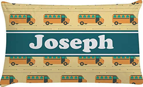 School Bus Pillow Case - Toddler (Personalized) (Bus School Pillow)