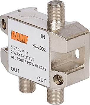 Bamf 2-Way Cable Coaxial divisor bidireccional moca 5 – 2300 MHz