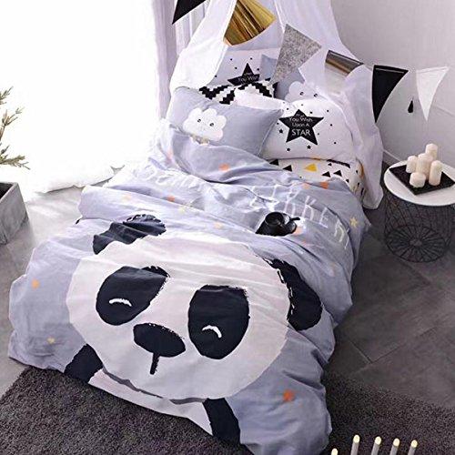 Cheap  Full Size Toddler Kid 4 Pcs Panda Bedding Set 100% Cotton Animal..