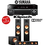 Yamaha AVENTAGE RX-A2070BL 9.2-Ch 4K Network AV Receiver + Klipsch RP-280FA + Klipsch RP-450C + Klipsch R-112SW - 3.1-Ch Dolby Atmos Home Theater Package