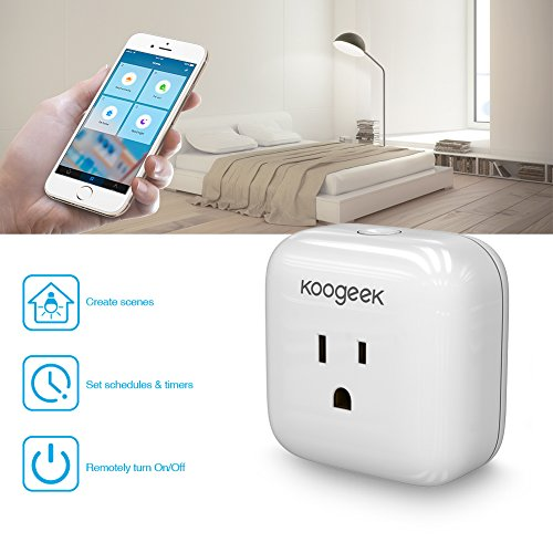 Koogeek Smart Plug, WiFi Socket Outlet for Apple HomeKit with Siri, Electronics Controller on 2.4GHz Network
