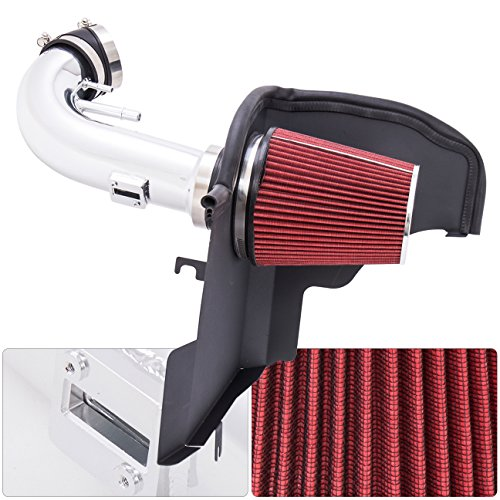 For Ford Mustang 5.0L Boss 302 Gt V8 High Flow Induction Air Intake System + Heat Shield Chrome Piping Kit