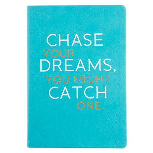 Eccolo 6 x 8 Inches Style Journal, Aqua Chase Your Dreams (D436A)