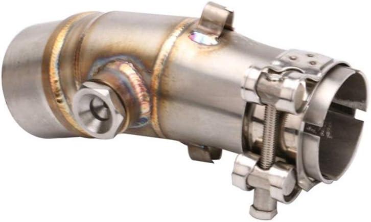 Leslaur Auspuffrohr Motorrad Modified Mittelteil Kompatibel mit ER6N ER6F Auspuffrohr universal Endschalld/ämpfer Auspuff aus