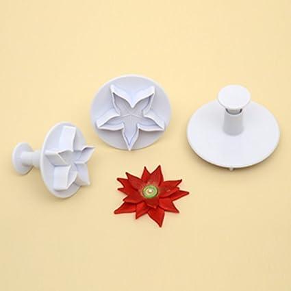 Stella Di Natale In Casa.Stampi Ad Espulsione Stella Di Natale 3 Pz Modecor Amazon It Casa