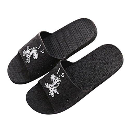 Sandalias De Verano Para Hombre Inkach - Zapatillas De Baño De Moda Sandalias De Chanclas - Zapatillas De Playa Planas Antideslizantes Negras