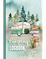 Camping Logbook: Camper Travel Journal Diary - RV Caravan Trailer Journey / Traveling Log Book 6x9 - Tent, Campsite RVer Van Journaling Notebook