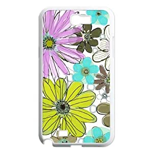 Vintage Flower ZLB543887 Customized Case for Samsung Galaxy Note 2 N7100, Samsung Galaxy Note 2 N7100 Case