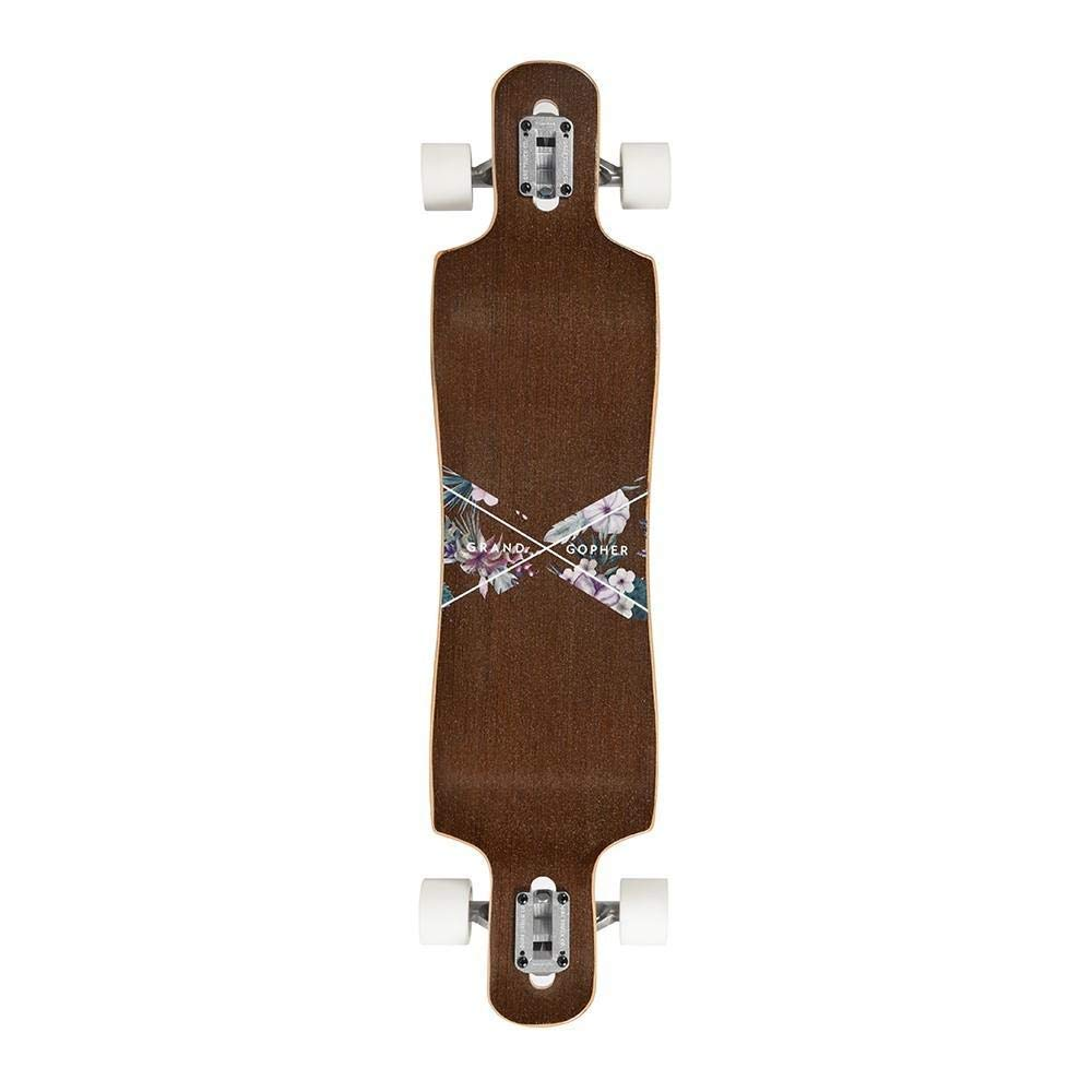 Grand Gopher Floral Wood Skate Board Cruiser Longboard by Hamboards