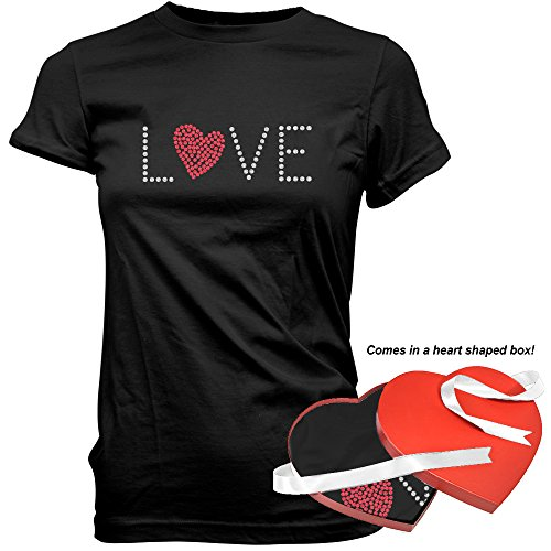 FSD Love Valentine's Day Premium Cotton T-Shirt For Women In Elegant Heart Shaped Gift Box Like Candy and Chocolates