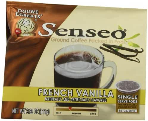 Senseo Paris French Vanilla Coffee, 16-Count Pods (Pack of 6)