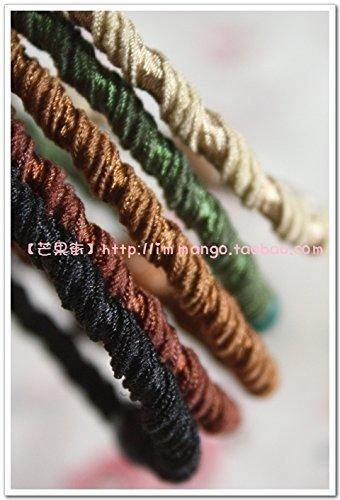 Tensile Strength Rubber (Kkkk authentic Korean hair ring Tousheng rubber band round helix high tensile strength have kept! for women girl lady)