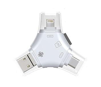 Amazon.com: Micro SD/TF lector de tarjetas, 4 en 1 lector de ...
