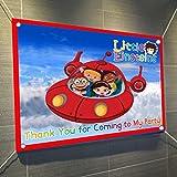 "Little Einsteins Large Vinyl Indoor or Outdoor Banner Sign Poster Backdrop, party favor decoration, 30"" x 24"", 2.5' x 2', Disney Jr."