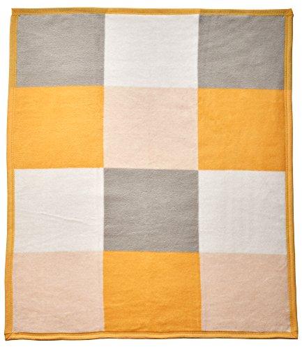 Patch Baby Blanket (Arus Baby Turkish Cotton Blend Blanket Butterscotch Patchwork 30x40 inches)