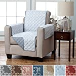 Home Fashion Designs Deluxe Reversible Quilted Furniture Protector and PET Protector. Two Fresh Looks in One. Perfect for Families with Pets and Kids Brand.