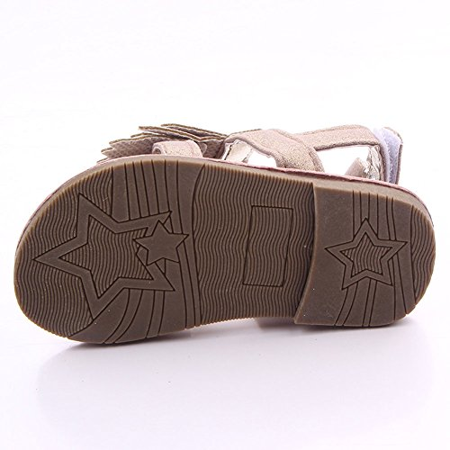 etrack-online bebé de flecos para cuna de goma suave soled Sandal plateado Talla:12-18months caqui
