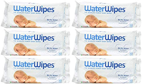 "Dermah2O Dermah20 Water Wipes - ""Worlds Purest Baby Wipes"" 60S (Pack Of 6)"