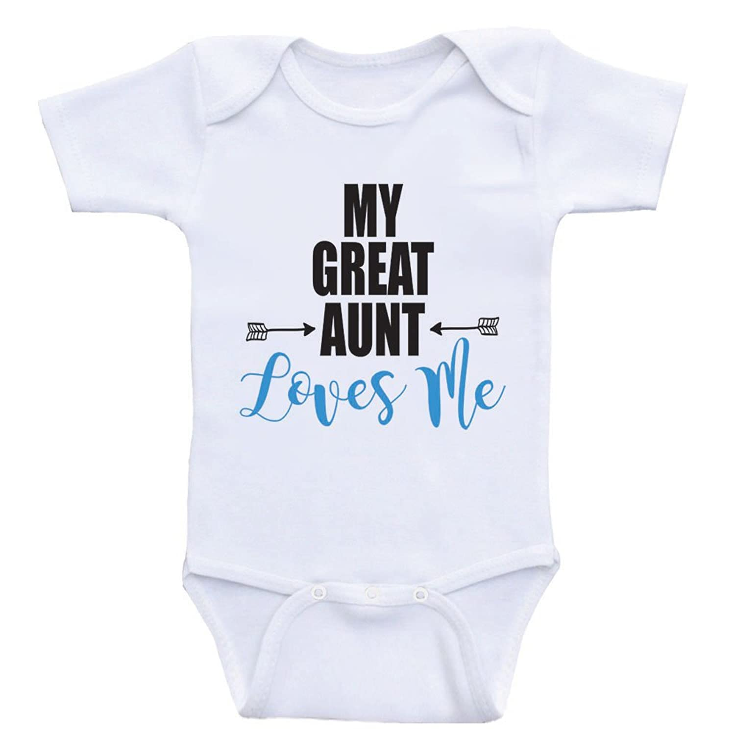 """Amazon Great Aunt Baby Shirts """"My Great Aunt Loves Me"""" Baby"""