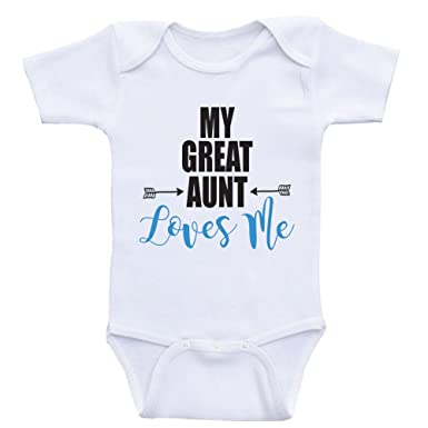 a624cfde7 Amazon.com  Heart Co Designs Great Aunt Baby Shirts My Great Aunt ...