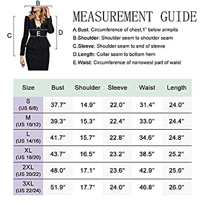 SEBOWEL Women's Formal Two Button Slim Fitted Office Work Blazers Jackets Suits Plus Size S-3X at Women's Clothing store