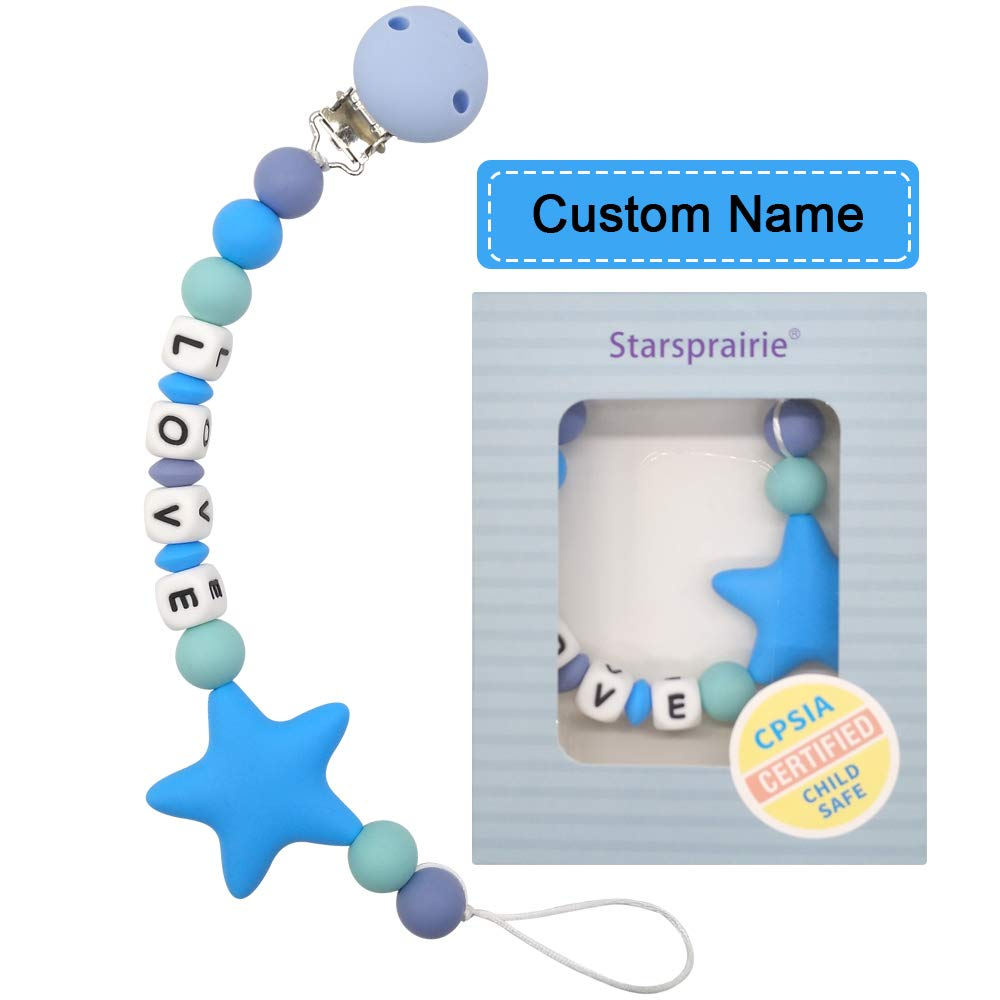 Soother Clip Dummy clip Custom Gift for Mom Clip with Name Personalized Pacifier Clip Universal Clip Silicone Pacifier Clip