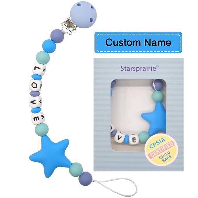Neutral dummy Clip Personalized Pacifier Clip Bibs Pacifier  wooden Girl Pacifier Clip  Schnullerkette  M\u00e4dchen