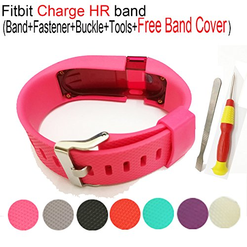 Compatible Fitbit Charge HR Band,Budesi Replacement Accessories Wristband Compatible for Fitbit Charge HR Wireless Activity Fitness Tracker -