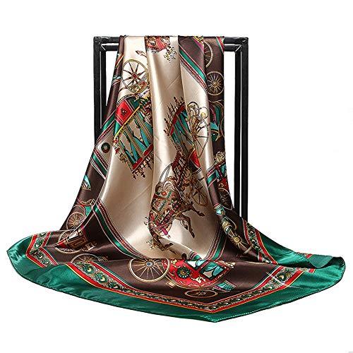 (GORBAST Women's Fashion Mulberry Silk Like Scarf Pattern Large 35
