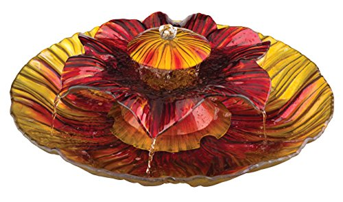 Cheap Regal Art & Gift 3-Tier Fountain, Red/Amber, 20-Inch