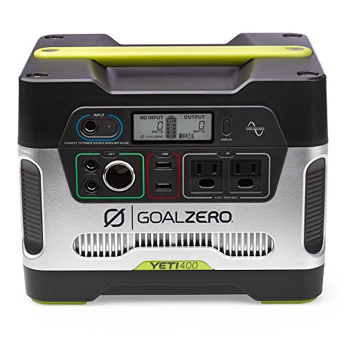 (Goal Zero Yeti 400 Portable Power Station, 400Wh Battery Powered Generator Alternative with 12V, AC and USB Outputs)