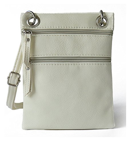 Bag A Crossbody Shoulder Small Women Purse Tibes Beige for wUEqaxpxA