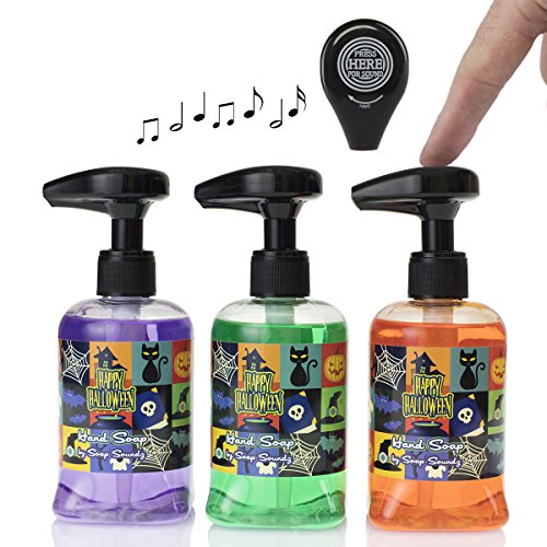 Soap Soundz (Set Of 3) Musical Holiday 8.5oz Liquid Hand Soap Dispenser Pumps Bathroom Sink