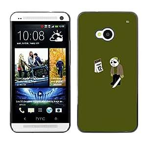 HTC One M7 - Metal de aluminio y de plástico duro Caja del teléfono - Negro - Friday 12 13 Jason - Funny Meme