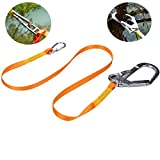 Dometool Safety Lanyard, Polyester Outdoor Climbing Lanyard Slings Protective Safety Protective Seat Belt Hook with Alloy Steel Buckle,Carabiner