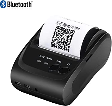 Amazon Com Android Thermal Printer 2 Inchs Wireless Bluetooth Receipt Printer Munbyn 58mm Portable Bill Mini Mobile Printer Compatible With Android Windows For Small Business Esc Pos Star Not Support Square Electronics