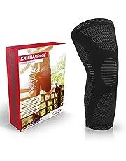 Vigo Sports Kniebrace, wasmachinebestendig, kniewarmer met antislipfunctie, ademende kniebeschermers voor mannen en vrouwen, knieondersteuning voor sport en handbal