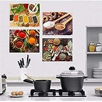 Quadros Decorativo Cozinha Restaurante Tela Kit 4