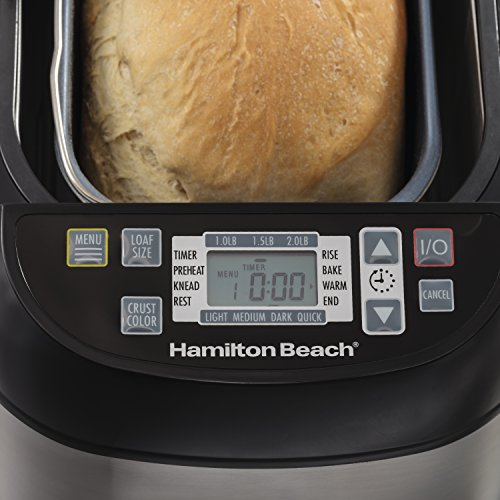 Hamilton Beach (29885) Bread Maker, 2 Lbs. Capacity, Stainless Steel