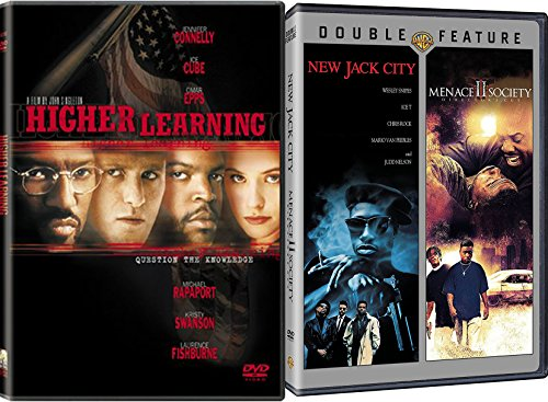 90's Urban Coming of Age 3 Movie Bundle: NEW JACK CITY & MENACE 2 SOCIETY & HIGHER LEARNING Triple - Rim Shop Movie