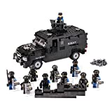 Police Swat Explosion-Proof Vehicle with Armed Minifigures Building Blocks Toy