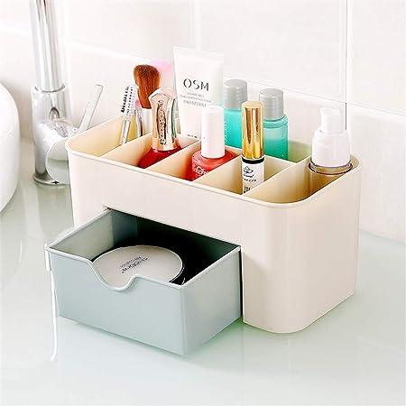 Soporte para Rack de Almacenamiento Organizador de maquillaje Caja de cosméticos Pantalla de escritorio Soporte de almacenamiento de espacio Cajón de almacenamiento de maquillaje Para guardar cosmétic: Amazon.es: Hogar